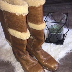 Sheepskin lined Frye Boots women's sz 8
